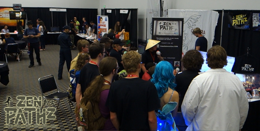 Our ZenPathz eSports game still popular after long day of gaming at Comic Con.