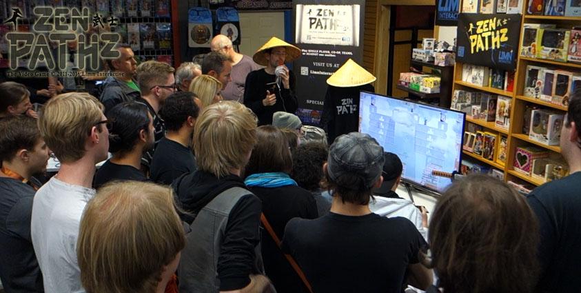 ZenPathz indie game demo at 2016 Denver Indie Game Expo.