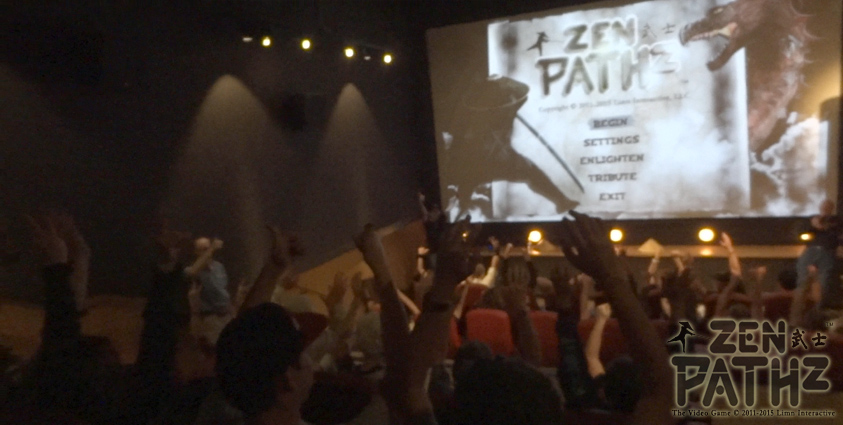 We have been filling movie theaters to capacity and playing the ZenPathz eSports game.